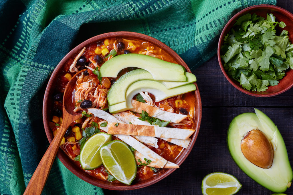 high protein chicken tortilla soup