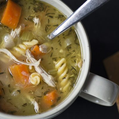 high protein chicken noodle soup